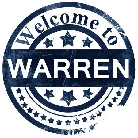 warren: warren stamp on white background Stock Photo