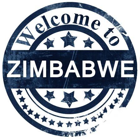 zimbabwe: Zimbabwe stamp on white background