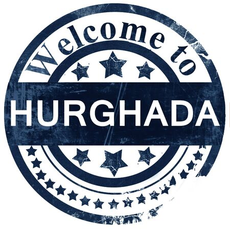 hurghada: hurghada stamp on white background Stock Photo