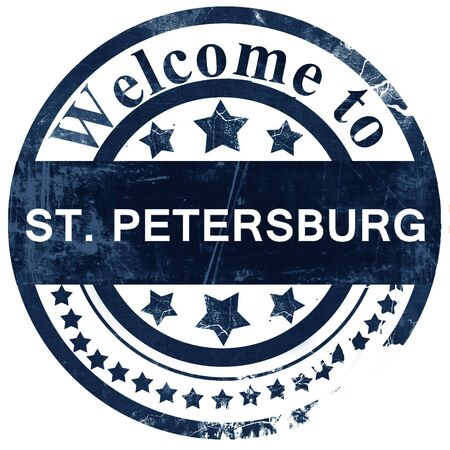 st  petersburg: st. petersburg stamp on white background Stock Photo