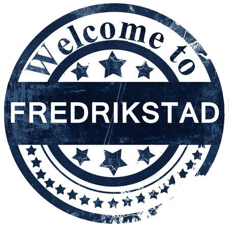 Fredrikstad stamp on white background Stock Photo