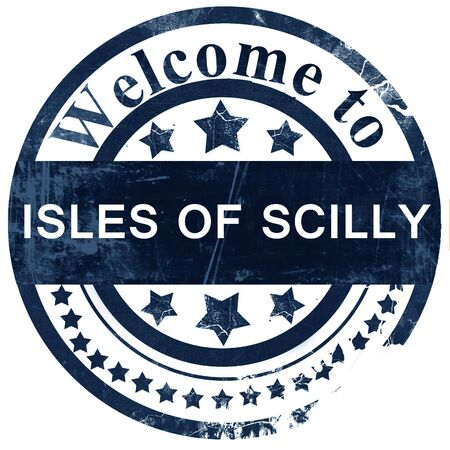 scilly: Isles of scilly stamp on white background Stock Photo