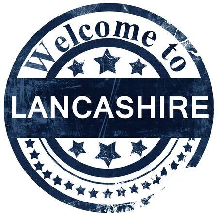 lancashire: Lancashire stamp on white background Stock Photo