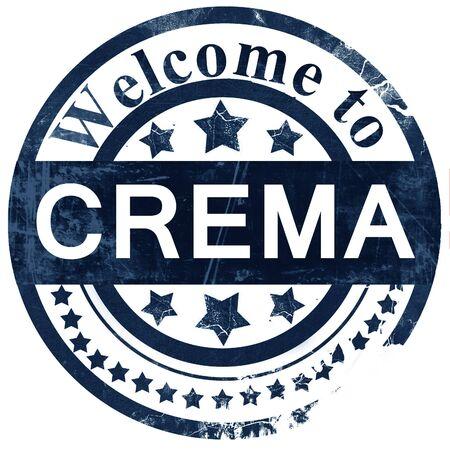crema: Crema stamp on white background