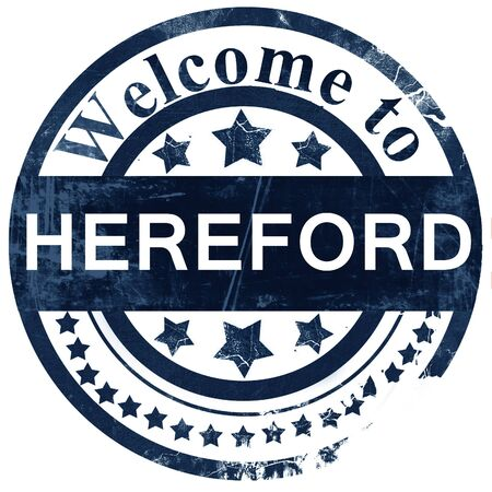 hereford: Hereford stamp on white background