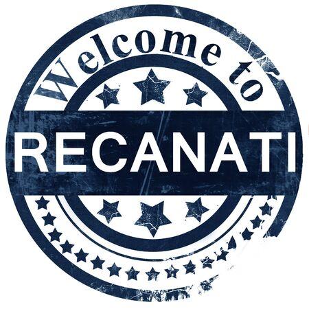 recanati: Recanati stamp on white background