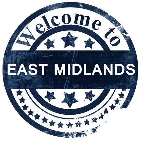 midlands: East midlands stamp on white background