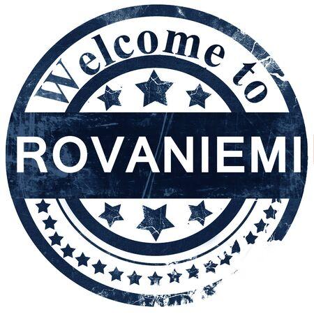 rovaniemi: Rovaniemi stamp on white background