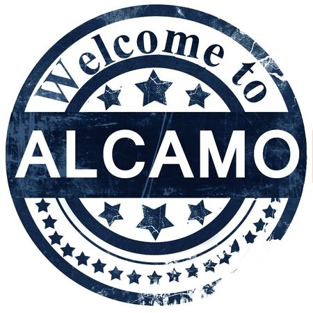 alcamo: Alcamo stamp on white background