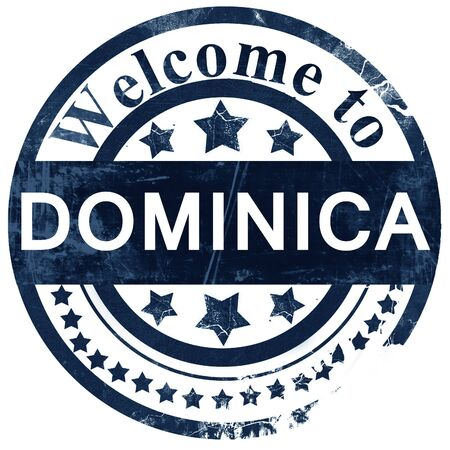 dominica: Dominica stamp on white background