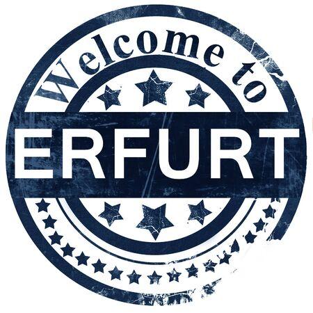erfurt: Erfurt stamp on white background