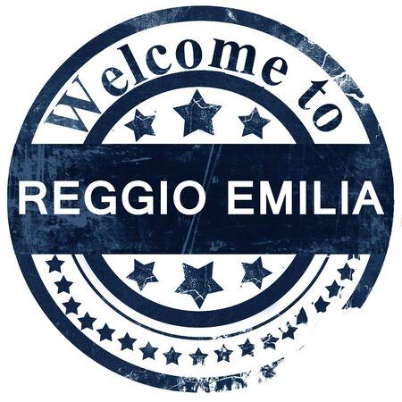 reggio emilia: Reggio emilia stamp on white background Stock Photo