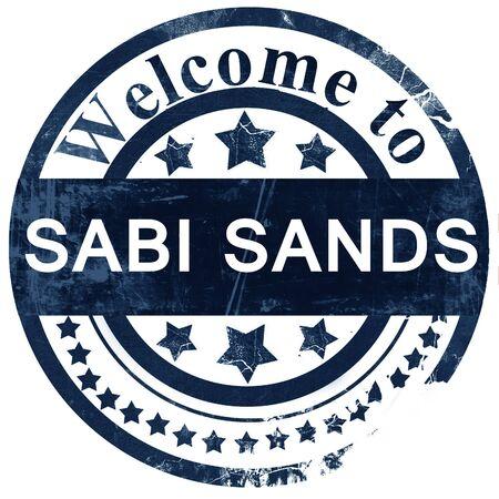 sabi: Sabi sands stamp on white background Stock Photo