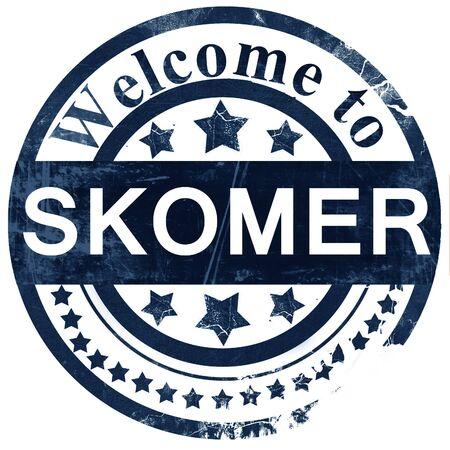 Skomer stamp on white background