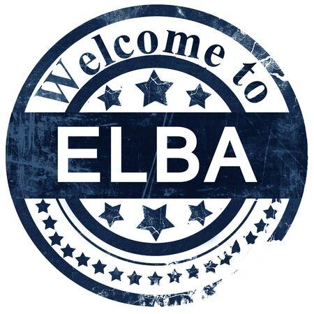 elba: Elba stamp on white background