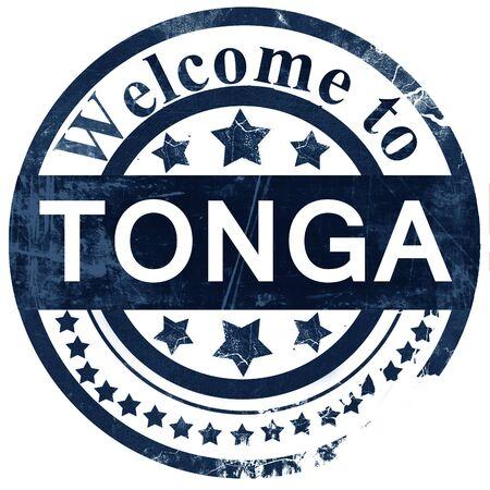 tonga: Tonga stamp on white background Stock Photo