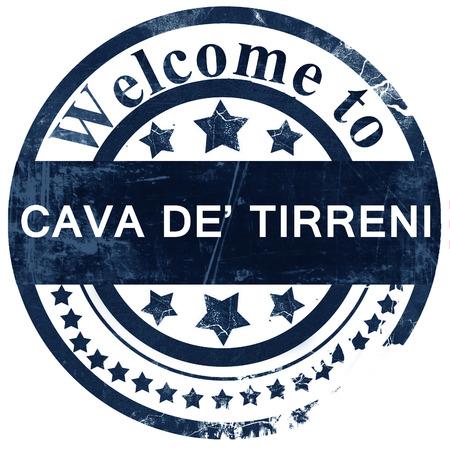 cava: Cava de tirreni stamp on white background