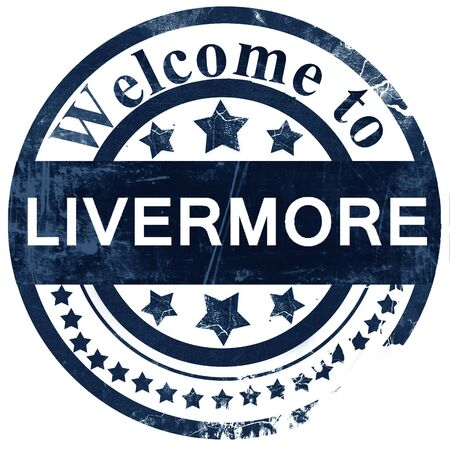 livermore stamp on white background Stock Photo