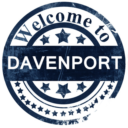 davenport: davenport stamp on white background