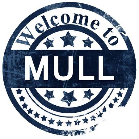 Mull: Mull stamp on white background