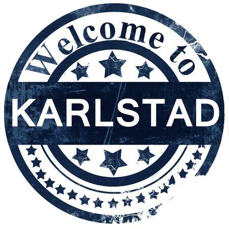 karlstad: karlstad stamp on white background