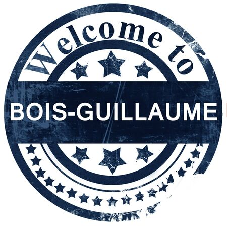 bois: bois-guillaume stamp on white background