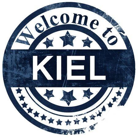 kiel: Kiel stamp on white background