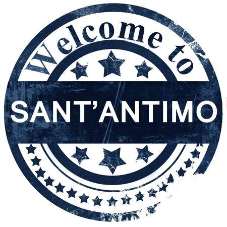 antimo: Santantimo stamp on white background Stock Photo