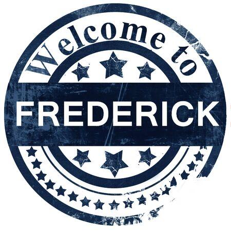 frederick: frederick stamp on white background