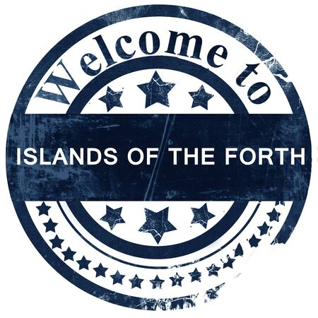 forth: Islands of the forth stamp on white background Stock Photo