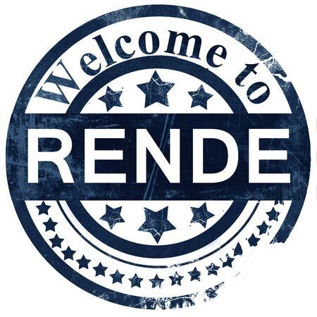 rende: Rende stamp on white background Stock Photo