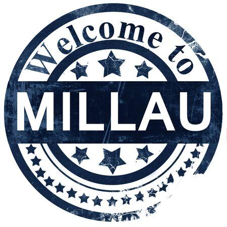 millau: millau stamp on white background