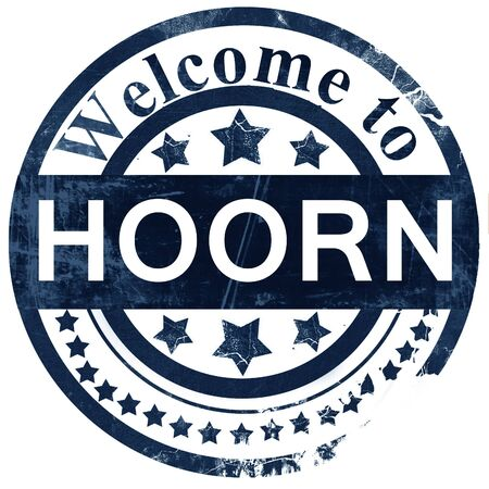 hoorn: Hoorn stamp on white background