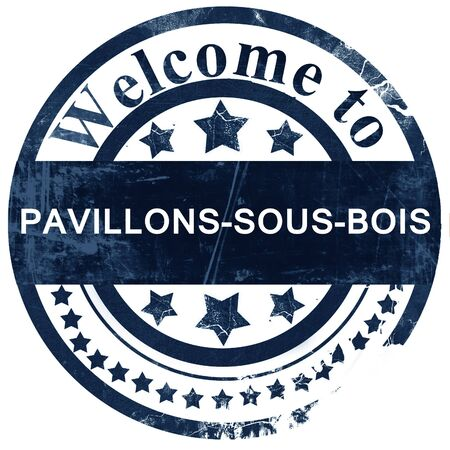 bois: pavillons-sous-bois stamp on white background