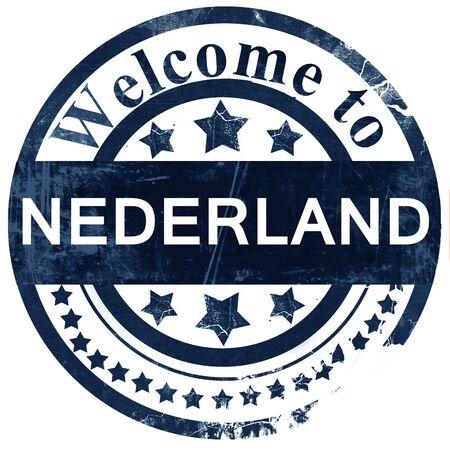 nederland: Nederland stamp on white background