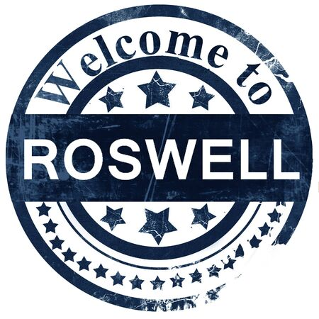 roswell: roswell stamp on white background