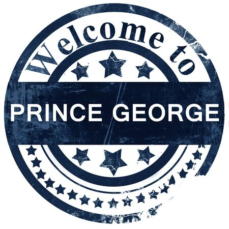george: Prince george stamp on white background