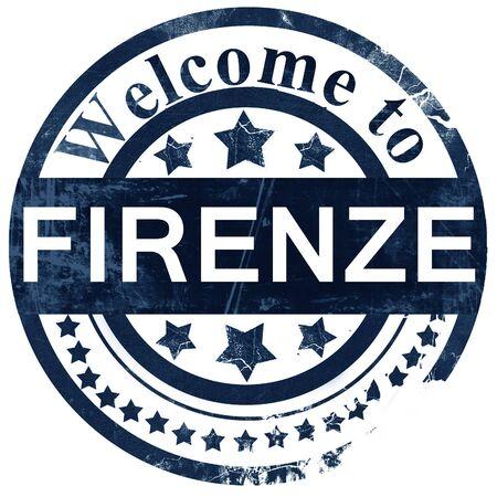 firenze: Firenze stamp on white background Stock Photo