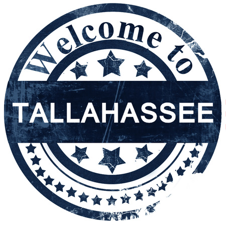 Tallahassee: tallahassee stamp on white background
