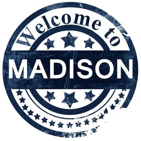 madison: madison stamp on white background Stock Photo