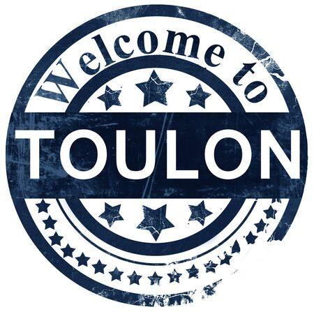 toulon: toulon stamp on white background