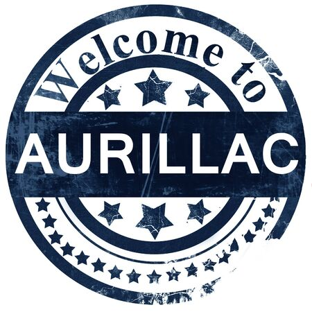 aurillac: aurillac stamp on white background Stock Photo