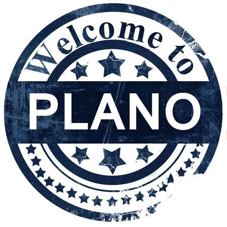 plano: plano stamp on white background