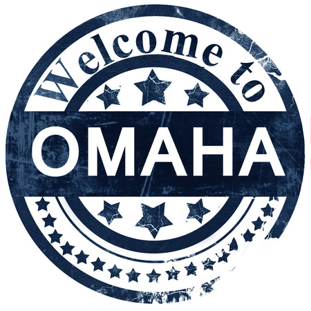 omaha: omaha stamp on white background