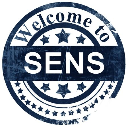 sens: sens stamp on white background