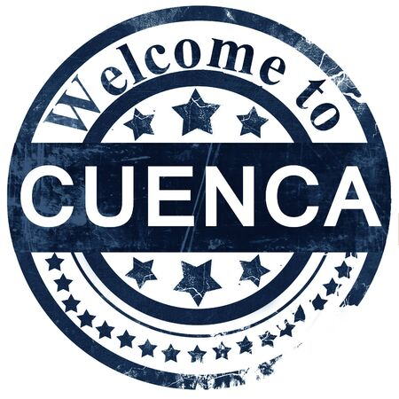 cuenca: Cuenca stamp on white background Stock Photo