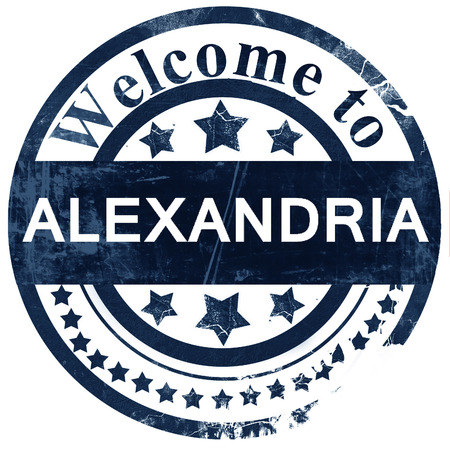 alexandria: alexandria stamp on white background