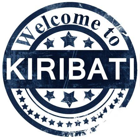 kiribati: Kiribati stamp on white background