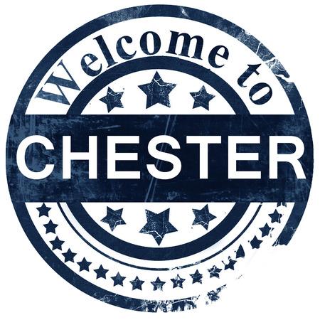 chester: Chester stamp on white background