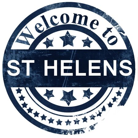 helens: St helens stamp on white background